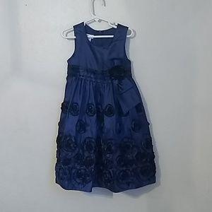 Bonnie Jean Girls blue dress size 4 /4t party dres